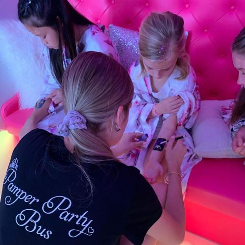 Pamper Party Bus Tattoos