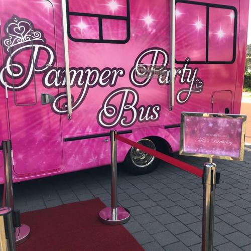 Pamper Party Bus Welcome Sign